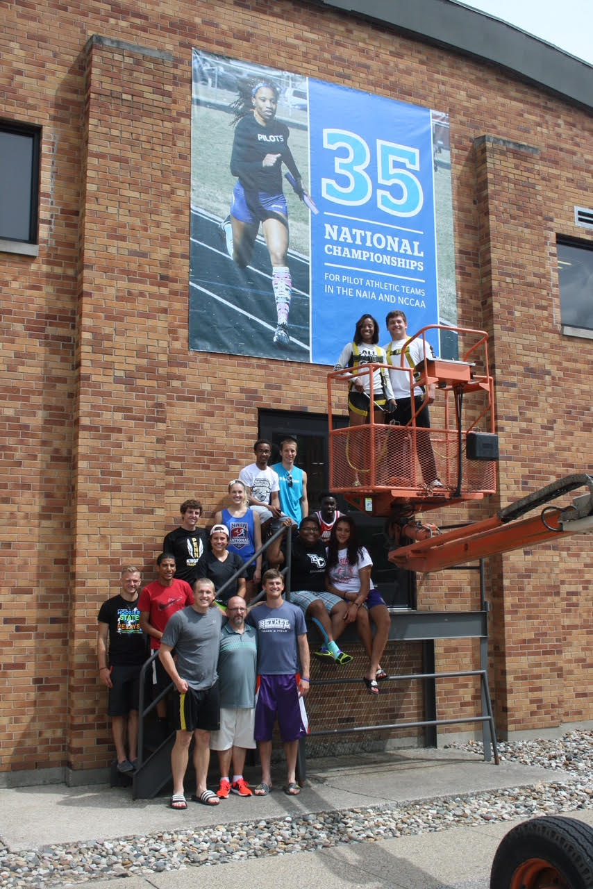 Coach Natali and the 2015-16 Track and Field Team